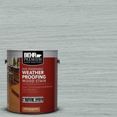 BEHR Premium 1-gal. #ST-365 Cape Cod Gray Semi-Transparent Weatherproofing Wood Stain 507701 at The Home Depot - Mobile