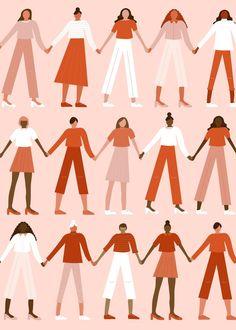 Woman Illustration, Digital Illustration, Forest Illustration, Illustration Fashion, Watercolor Illustration, Art Illustrations, Wall Collage, Wall Art, Feminist Art