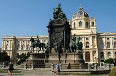 https://flic.kr/p/LQfM7j | Vienna | The Maria Theresa Monument was constructed under the lead of Kaspar von Zumbusch from 1875 to 1888. It is located in the plaza between the natural history and art museums. Maria Theresa is surrounded by four horseman statues of her generals.