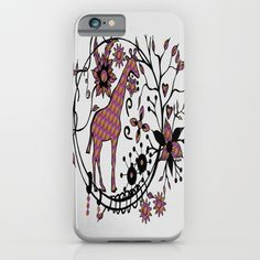 Colorful Giraffe Illustration iPhone & iPod Case