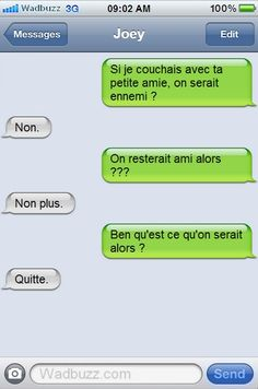 Petit adultère entre amis A Funny, Funny Texts, Funny Jokes, Hilarious, Supernatural Texts, Lol, Phone Messages, Superwholock, I Laughed