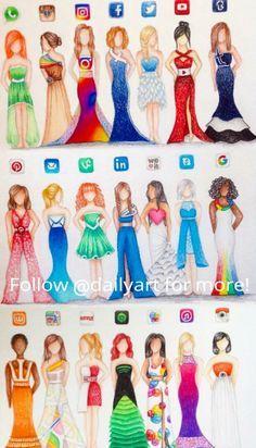 art desenho Images for humanized social media - art App Drawings, Cool Art Drawings, Drawing Ideas, Drawing Poses, Music Drawings, Human Drawing, Fantasy Drawings, Beautiful Drawings, Cute Disney Drawings