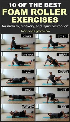 of the Best Foam Roller Exercises 10 of the best exercises you can do with a foam roller. From the physical therapist at of the best exercises you can do with a foam roller. From the physical therapist at Tone-and- Fitness Workouts, Yoga Fitness, At Home Workouts, Fitness Tips, Fitness Motivation, Health Fitness, Employee Motivation, Physical Fitness, Fitness Quotes