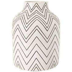 Reuse old vase and draw messy chevrons