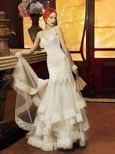 Yolan Cris #vintage wedding dress Hair colour!
