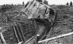 Ooooops! Crippled German Tank.