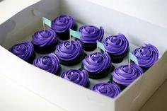 "purple cupcakes from ""coco cake"" #cupcakes #purple"