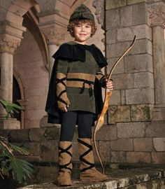 Robin Hood::Thy noble deeds are known throughout Sherwood Forest (and also in the 'hood where thy family dwelleth). A dashing figure you make in this FauxSuede tunic Clever Halloween Costumes, Hallowen Costume, Halloween Dress, Halloween Kids, Book Day Costumes, Boy Costumes, Elf Cosplay, Chasing Fireflies, Costume Patterns