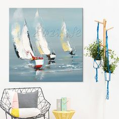 sale Hand painted boat Canvas Oil painting Wall Pictures for Living room wall decor art canvas painting palette knife boat 41 Boat Painting, Oil Painting On Canvas, Living Room Pictures, Wall Pictures, Canvas Frame, Canvas Art, Cheap Paintings, Room Wall Decor, Picture Wall