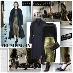 Trending in NYFW Fall 2015 by stylepersonal on Polyvore featuring Topshop, VIPARO, Maiden Lane, Steve Madden, Jason Wu, fashionweektrend and NYFW2015