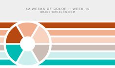 Week #10 of 52 Weeks of Color… Love the colors in this palette @brandigirlblog #color #palette