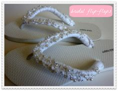 {DIY Bridal Flip-Flops} · DIY Weddings | CraftGossip.com   You could make these in any color to go with your attire.