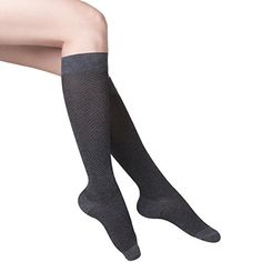 TOUCH Womens Dress Compression Socks 1520 mmHg Herringbone Pattern Charcoal Medium ** More info could be found at the image url. (This is an affiliate link) Yoga Shoes, Herringbone Pattern, Charcoal, Socks, Pairs, Touch, Medium, Link, Image