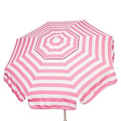 Parasol 6' Italian Aluminum Collar Tilt Beach Umbrella - Pink/White Stripe