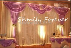 Wholesale Romantic 3X6Meters Ice Material Soft Wedding Backdrops Wedding stage decor, $112.0-128.8/Piece | DHgate