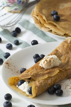Blueberries & Cream Crepes
