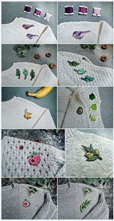 unique hand - embroidered brooch, jewelry, accessories by OhKatesCrafts https://www.etsy.com/shop/OhKatesCrafts?ref=seller-platform-mcnav
