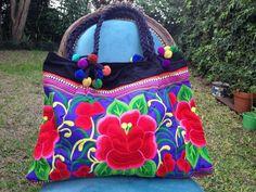 Bolso Bordado Violeta - Comprar en Taller de bordado Lu
