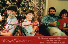 tie up the kids photo xmas card