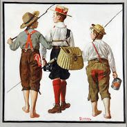 Fishing Trip, They'll Be Coming Back Next Week - Norman Rockwell