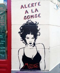 Street Art butte aux cailles Paris - Miss Tic