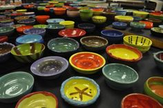 This is amazing… the year that I've organized our Empty Bowls Dinner Event at my school and the response is incredible! We have our Family Bowl Making night tonight and last time (… Food Bank Donations, Clay Projects For Kids, Group Projects, Kids Cafe, Collaborative Art Projects, Family Fun Night, Clay Bowl, Art Curriculum, School Fundraisers