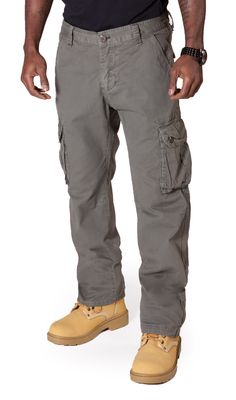 Noah - Grey Cargo Pants with cuffed ankle #cargotrousers from ...