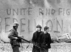 British soldiers patrol Belfast in 1969