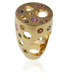 L'exubérante, or et pierres précieuses