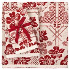 Jacquard Geometric Floral Towel