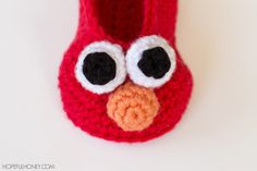 Elmo Inspired Baby Booties - Free Crochet Pattern
