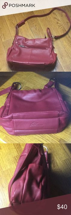 "Stone Mountain Bag Newer worn size 10""x12"", strap 20"" burgundy leather Bag. Make me an offer Stone Mountain Accessories Bags"