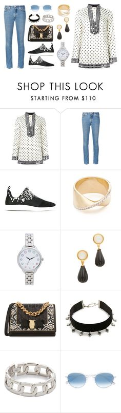 """""""Beautiful outfit for you"""" by camry-brynn ❤ liked on Polyvore featuring Tory Burch, RE/DONE, Giuseppe Zanotti, Adina Reyter, Marc Jacobs, Lizzie Fortunato, Salvatore Ferragamo, Vanessa Mooney, Alexander Wang and Garrett Leight"""
