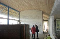 techo curvo de madera