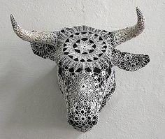 Sculpture using doilies by Joana Vasconcelos