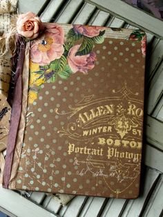 Beautiful collaged book cover