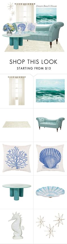 """Coastal Getaway"" by thevelosarahptor ❤ liked on Polyvore featuring interior, interiors, interior design, home, home decor, interior decorating, Royal Velvet, Somerset Bay, Skyline and Diane James"