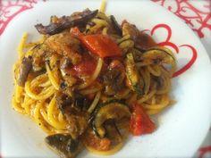 Spaghetti con verdure grigliate - Ricette di cucina Il Cuore in Pentola
