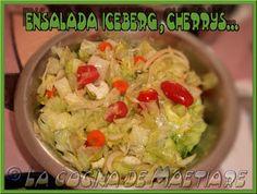 La cocina de Maetiare: Ensalada Iceberg, cherrys...