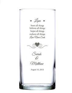 Personalized Engraved Glass Wedding Candle Holder/Vase  by hbhill, $30.00