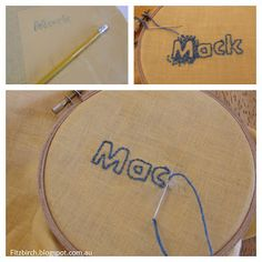 Letter embroidery - a tutorial on how to make (great for gift tags etc)