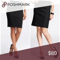 Ann Taylor Black Midi Skirt Perfect office Skirt! Excellent condition. Fast shipping. Skirts Midi