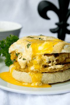 A Cajun twist on a classic. With fried green tomatoes, crab cakes and roumalade sauce, The Big Easy Eggs Benedict is the perfect for brunch!