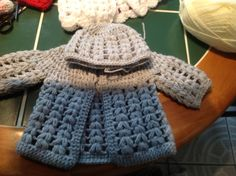 Free baby crochet cardigan