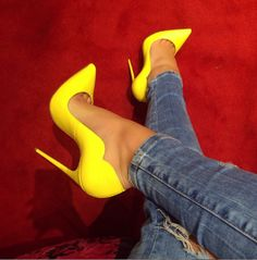 Lola Yellow Patent Leather Pumps – Slay Accessories http://amzn.to/2sHJMhw