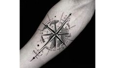 50 Small Compass Tattoos for Men - Navigation Ink Design Ideas - . - 50 Small Compass Tattoos for Men – Ideas for Navigation Ink Design – # Ideas t - Small Compass Tattoo, Compass Tattoo Design, Compass Tattoo Forearm, Small Tattoo, Trendy Tattoos, Tattoos For Guys, Cool Tattoos, Tatoos Men, Star Tattoos For Men