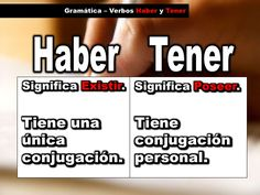 Gramática - haber y tener