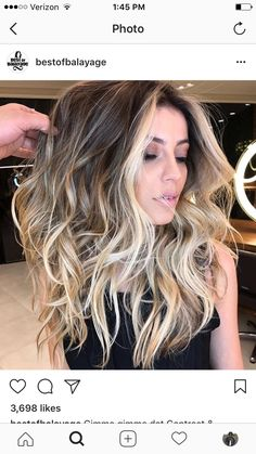 "Modern Hair Color Ideas ~ Balayage ~ Gorgeous color! Follow me on Pinterest @ Melissa Riley for more modern hair color and style ideas. Ranked # 3 on Google ""modern eye makeup ideas"". Follow my boards for modern wedding dress collections, unique wedding p"