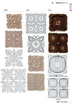 300 crochet patterns book - motifs,edgings - 2006 - Lita Zeta - Álbuns da web do Picasa Crochet Edging Patterns, Crochet Motif, Crochet Flowers, Crochet Stitches, Flower Patterns, Knitting Patterns, Crochet Edgings, Crochet Diagram, Crochet Quilt