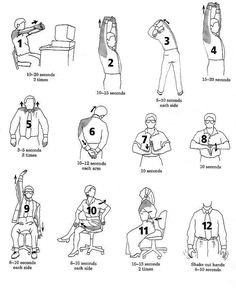 Office Exercising...If it's going to be a day primarily spent sitting, consider adding these stretches to your routine.